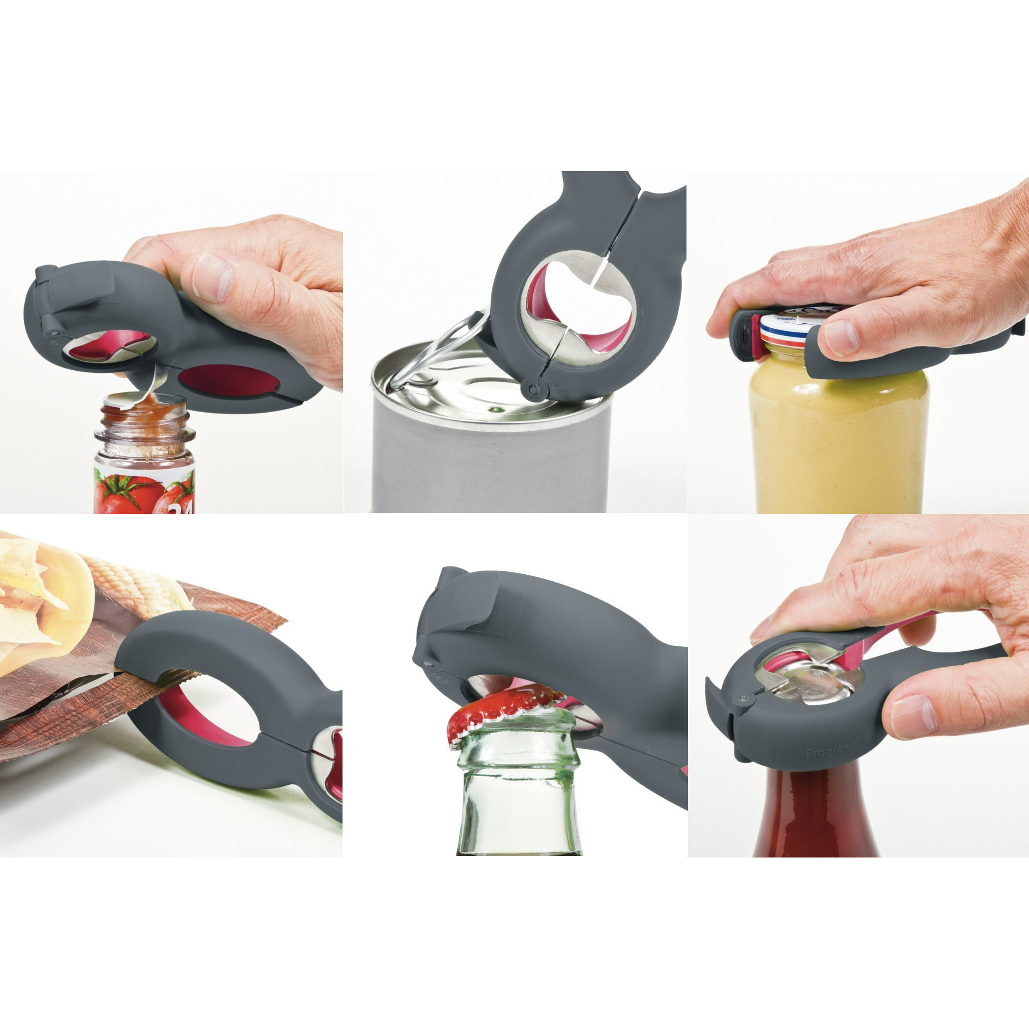 Progressive Prepworks Black 6-in-1 Multi-Opener