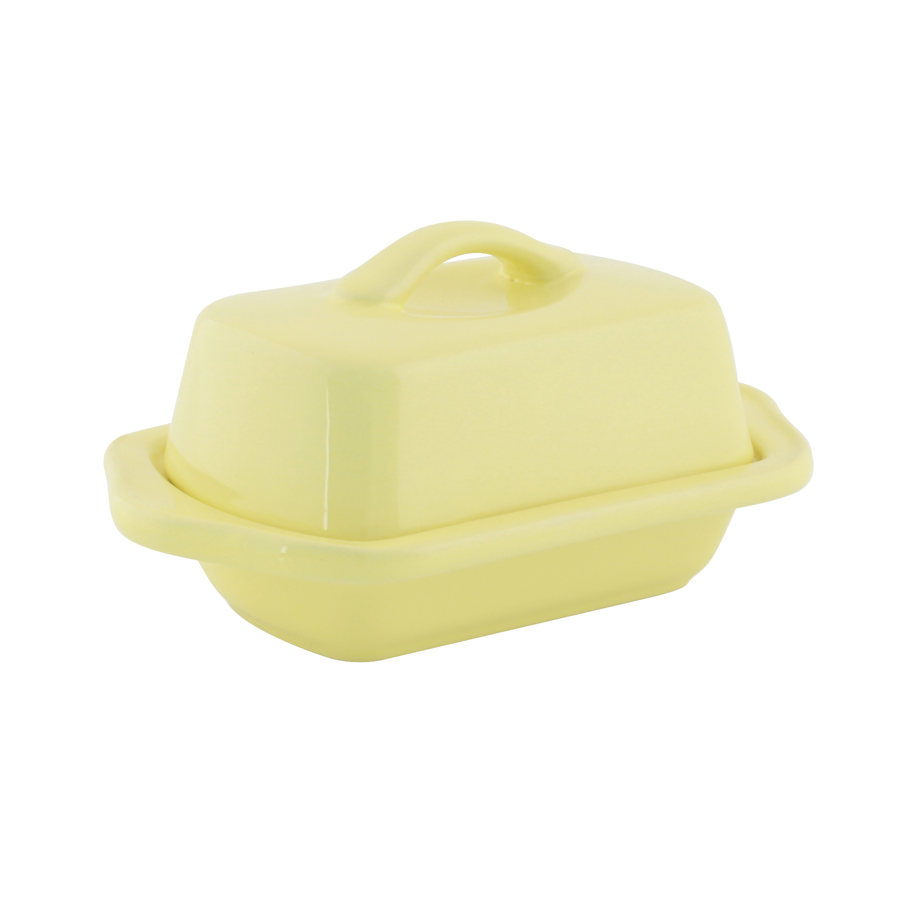 Chantal Canary Yellow Stoneware Mini 5 Inch Butter Dish