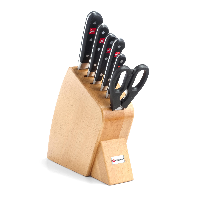 Wusthof Classic Beechwood 7 Piece Jumbo Studio Knife Set