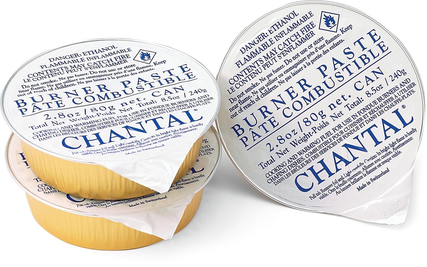 Chantal Fondue Y-Burner Paste Fuel, 3 Pack