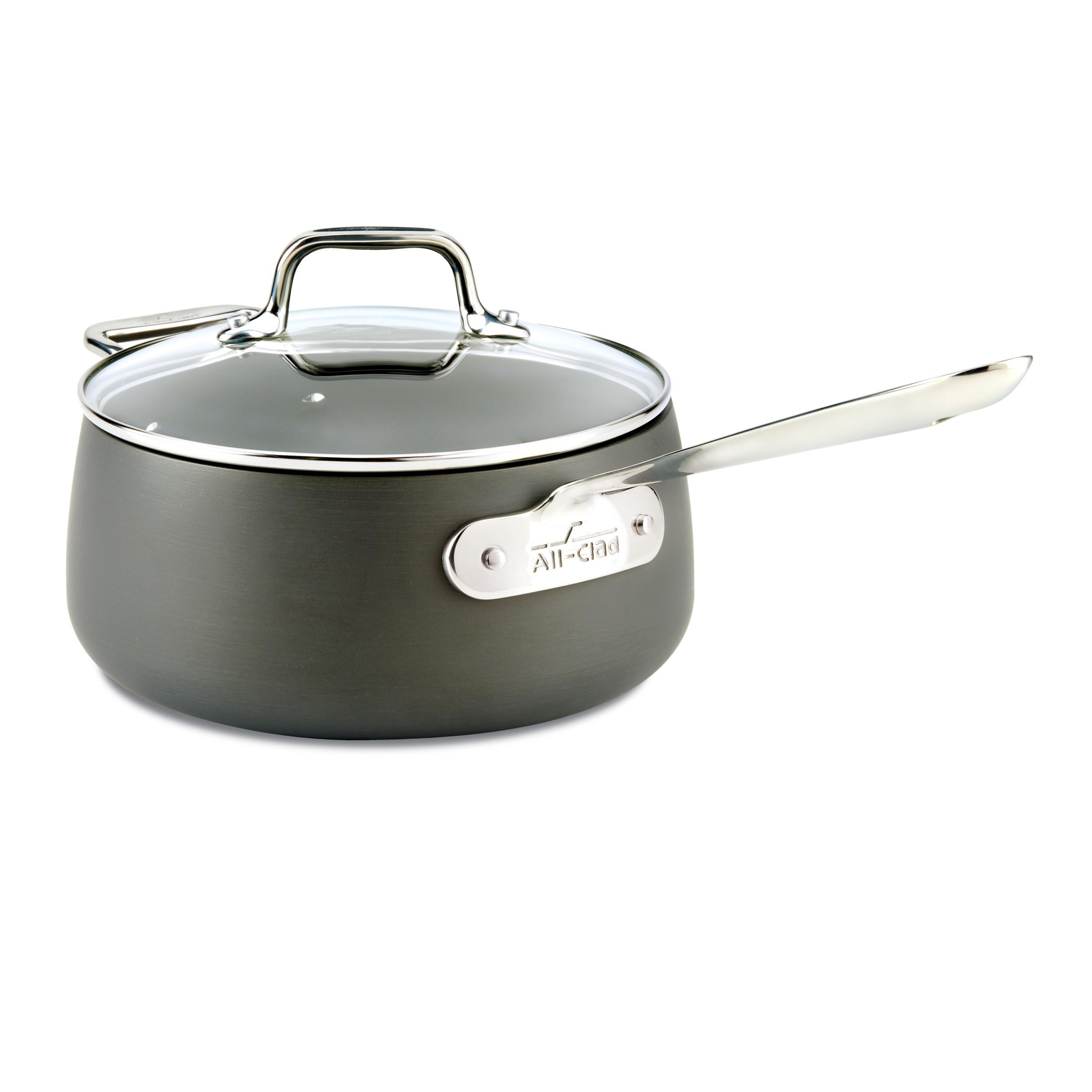 All Clad Hard Anodized Nonstick 3.5 Quart Sauce Pan