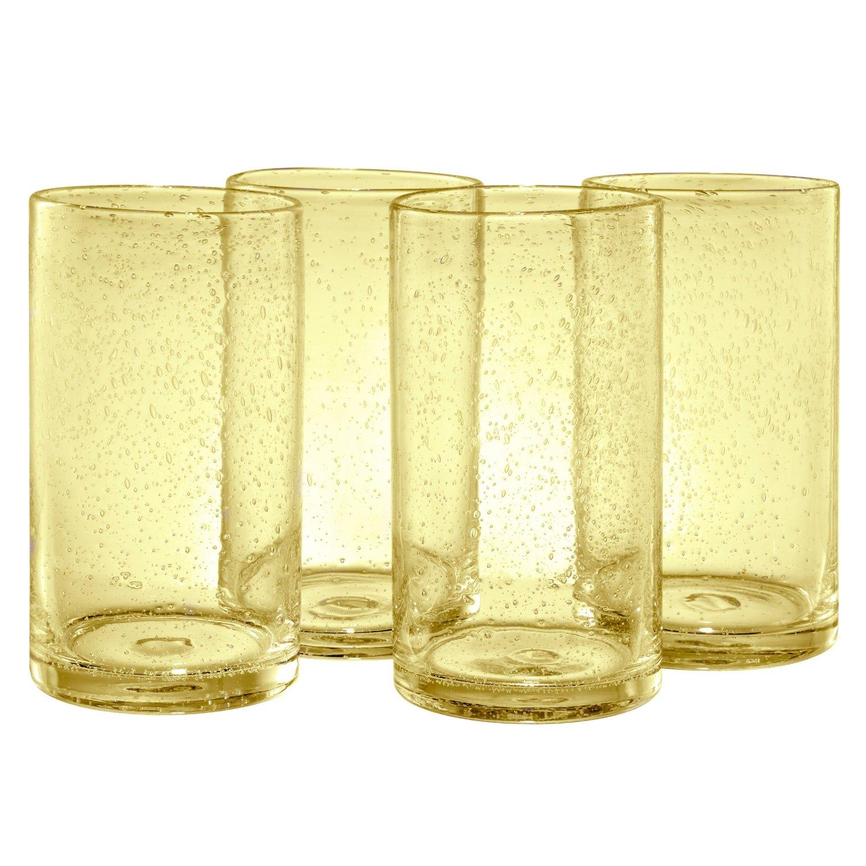 Artland Iris Citrine Glass Highball Tumbler