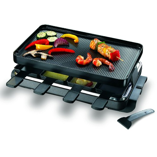 Swissmar Classic Black 8 Person Raclette Party Grill