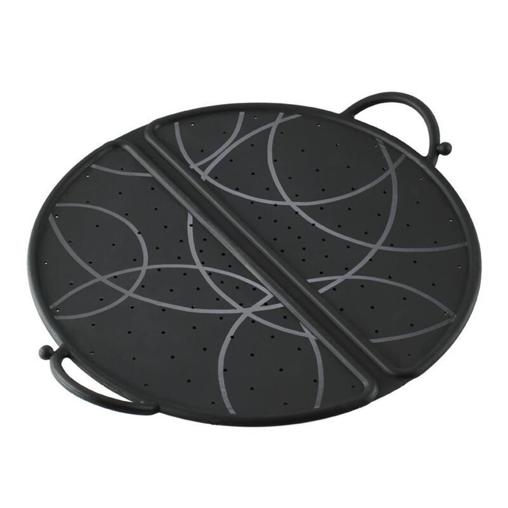 Kuhn Rikon Black Silicone Large 12 Inch Foldable Splatter Guard