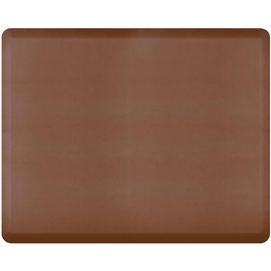 WellnessMats Brown Standard Anti-Fatigue Mat, 5 x 4 Foot