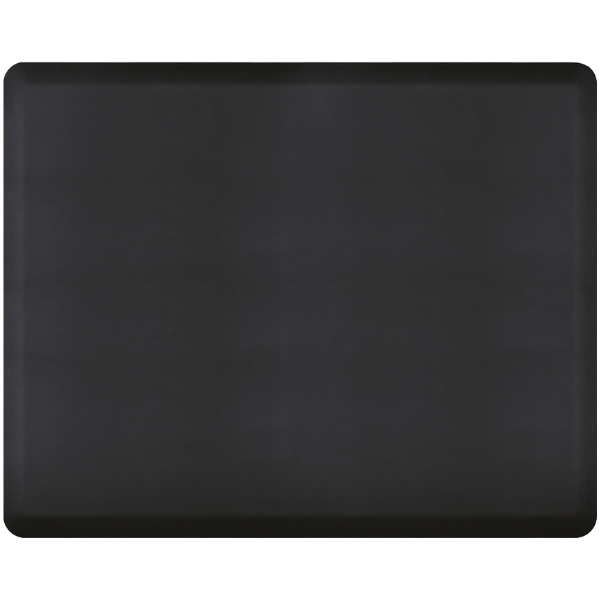 WellnessMats Black Standard Anti-Fatigue Mat, 5 x 4 Foot