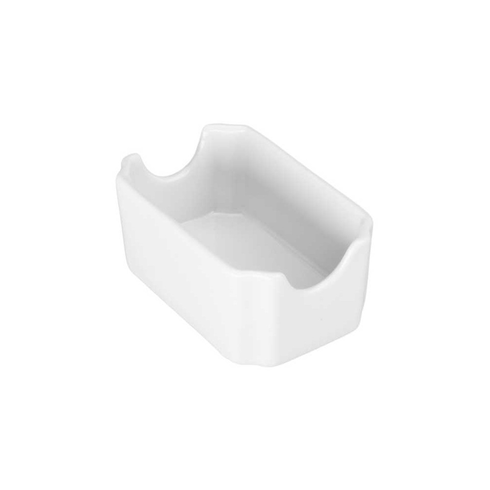 BIA White Porcelain 4.75 x 3 Inch Sugar Packet Holder