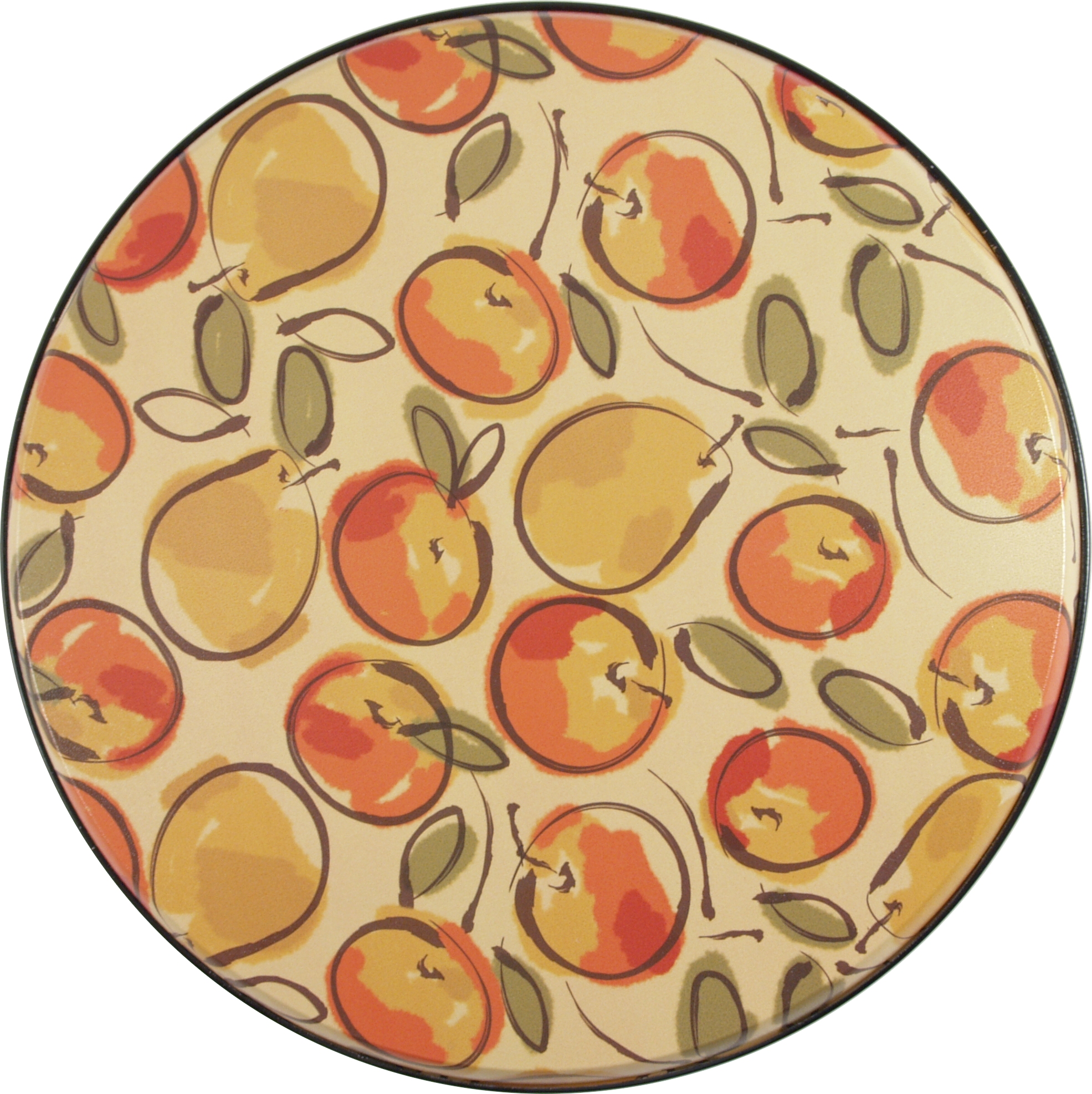 Fruit Explosion 4 Piece Round Burner Cover Set