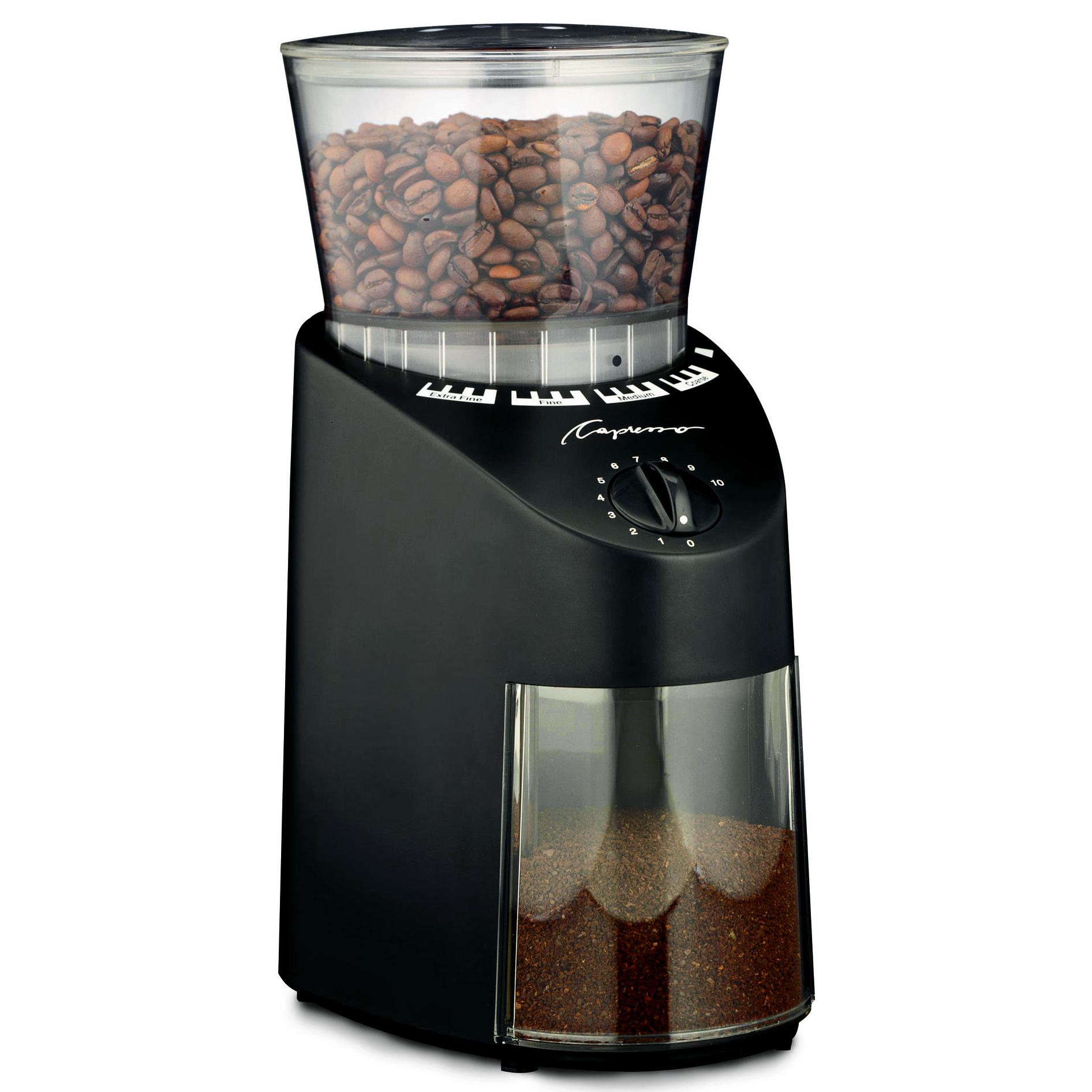 Capresso Black Finish Infinity Burr Coffee Grinder