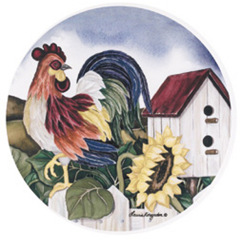 Rooster Sunflower Burner Covers, Set of 4