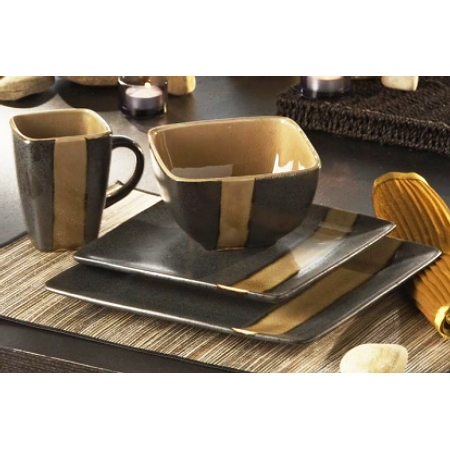 Earth Stoneware 16pc Dinnerware Set with Plate Bowl Mug