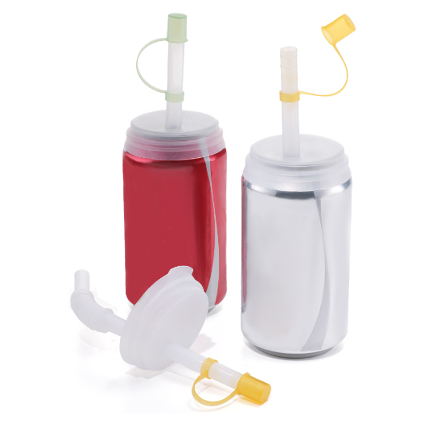Jokari Soda Can Straw and Lid, Set of 2