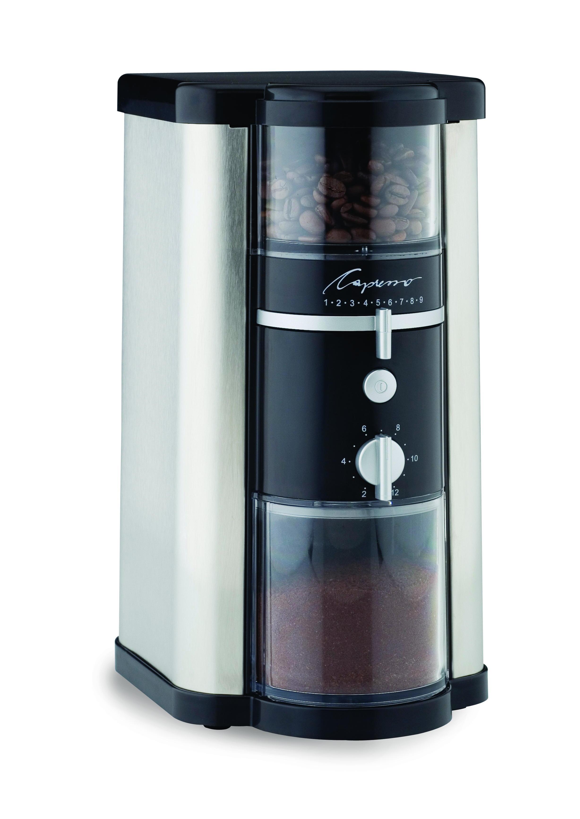 Capresso Stainless Steel Disk Type Burr Coffee Grinder