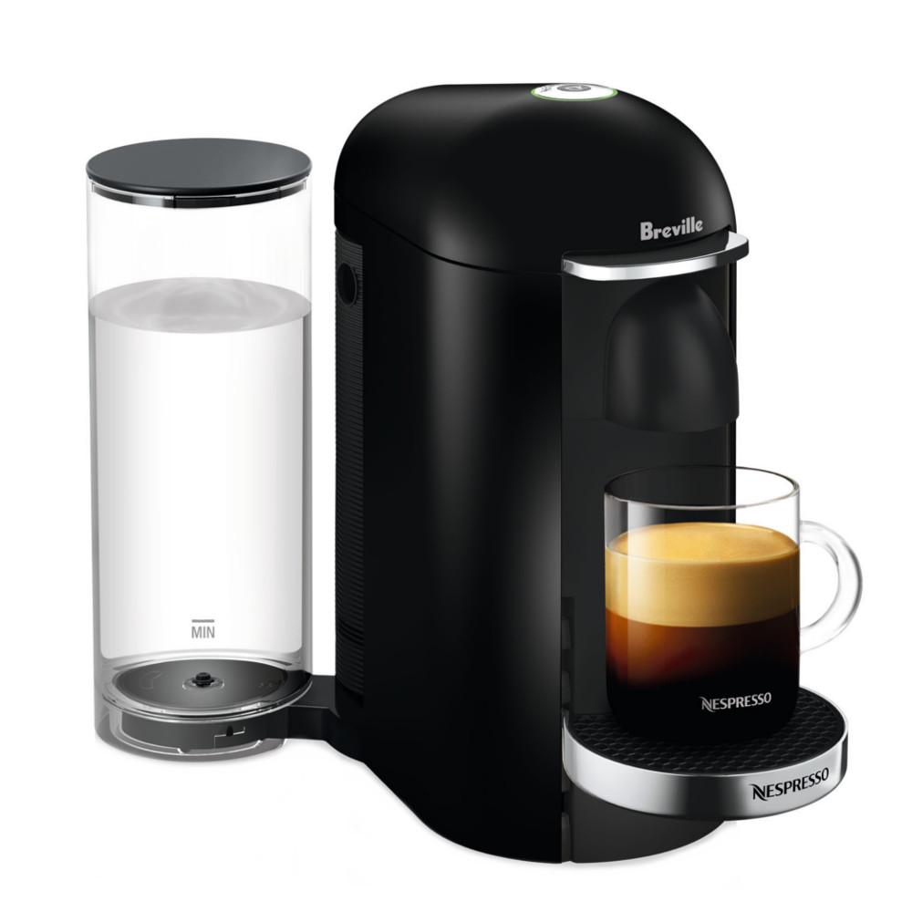 Breville Nespresso VertuoPlus Deluxe Piano Black Coffee Machine