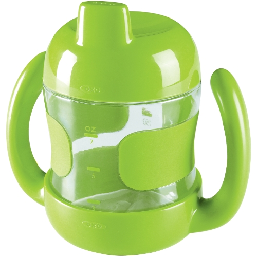 OXO Tot Green Sippy Cup with Handles, 7 Ounce