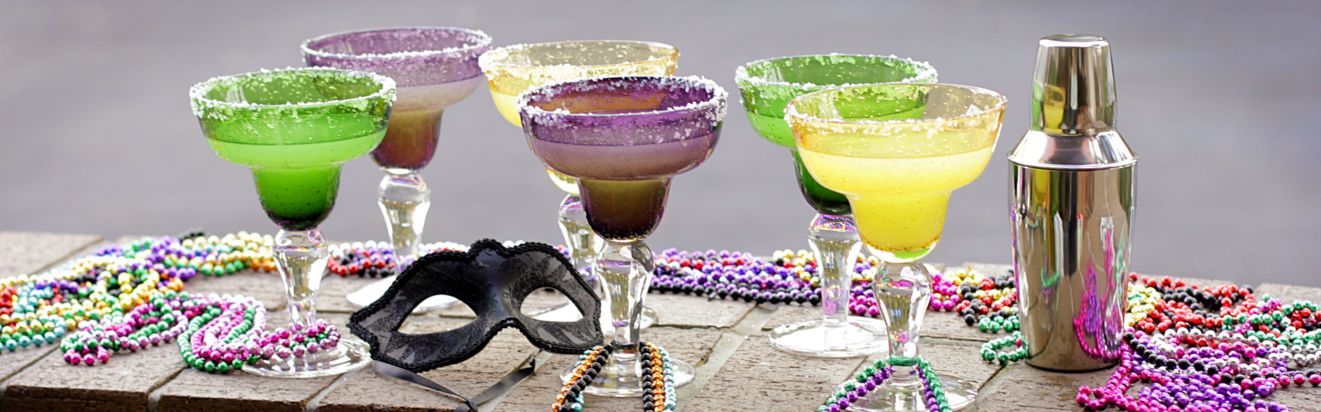 Mardi Gras Glassware and Accessories