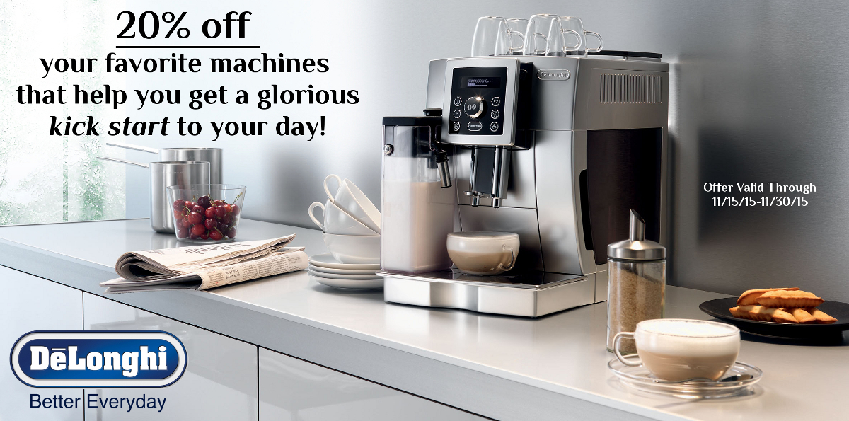 DeLonghi 20% off Sale