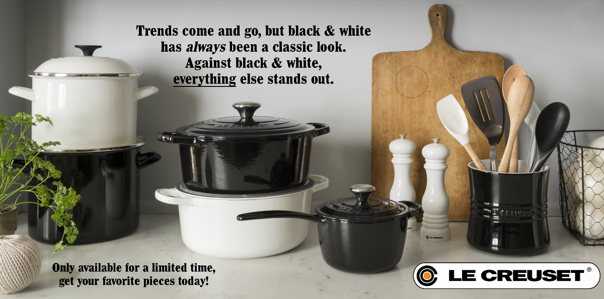 Le Creuset Black & White