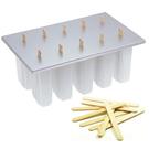 Progressive White Plastic Frozen Pop Maker with Free 50 Wooden Sticks