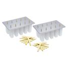Progressive International White Freezer Pop Maker with Sticks, Set of 2