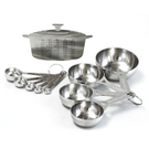 Le Creuset Stainless Steel Measuring Cup and Spoon Set with Reference Magnet