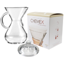 Chemex Glass 40 Ounce Coffee Maker with Cover and 100 Count Bonded Circle Coffee Filters