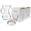 Chemex Glass 30 Ounce Coffee Maker with Cover and 200 Count Bonded Circle Coffee Filters