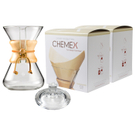 Chemex Classic Wood Collar and Tie Glass 30 Ounce Coffee Maker with Cover and 200 Count Bonded Unbleached Pre-Folded Square Coffee Filters
