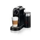 DeLonghi Nespresso CitiZ & Milk Black Espresso Machine with Free Set of 6 Espresso Glasses