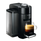 DeLonghi Nespresso Vertuo Black Coffee and Espresso Machine with Free Set of 6 Espresso Glasses