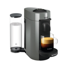 DeLonghi Nespresso Vertuo Plus Grey Coffee and Espresso Machine with Free Set of 6 Espresso Glasses