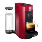 DeLonghi Nespresso Vertuo Plus Red Coffee and Espresso Machine with Free Set of 6 Espresso Glasses