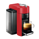 DeLonghi Nespresso Vertuo Red Coffee and Espresso Machine with Free Set of 6 Espresso Glasses