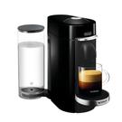 DeLonghi Nespresso Vertuo Plus Deluxe Black Coffee and Espresso Machine with Free Set of 6 Espresso Glasses