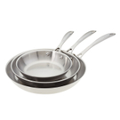 American Kitchen The Triple Threat Stainless Steel 3 Piece Skillet Cookware Set