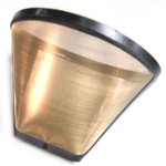 Gold Tone Permanent Cone Coffee Filter #2