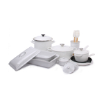 Le Creuset White 17 Piece Cookware and Bakeware Set