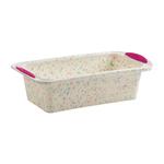 Trudeau Confetti Fuchsia BPA-Free Silicone Easter Loaf Pan