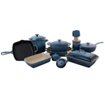 Le Creuset Marine 18 Piece Mixed Material Cookware and Bakeware Set