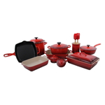 Le Creuset Cerise 18 Piece Mixed Material Cookware and Bakeware Set