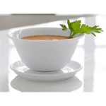 Steel-Function White Porcelain Sauce Server