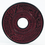 Red Garnet Cast Iron Trivet for Japanese Tetsubin