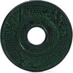 HUES N BREWS Emerald Green Cast Iron Trivet for Japanese Tetsubin