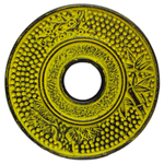 Lemon Yellow Cast Iron Trivet for Japanese Tetsubin