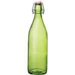 Bormioli Rocco Giara Green Sprayed Glass Swing Top Bottle