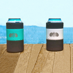Toadfish Outfitters Teal & White Stainless Steel Non-Tipping Can Coolers