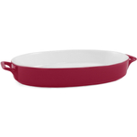Red Ceramic 14 Inch Oval Baker