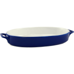Blue Ceramic 14 Inch Oval Baker