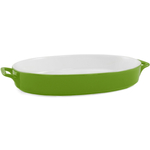Green Ceramic 14 Inch Oval Baker