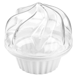 White Cupcake To Go Plastic Cupcake Holder